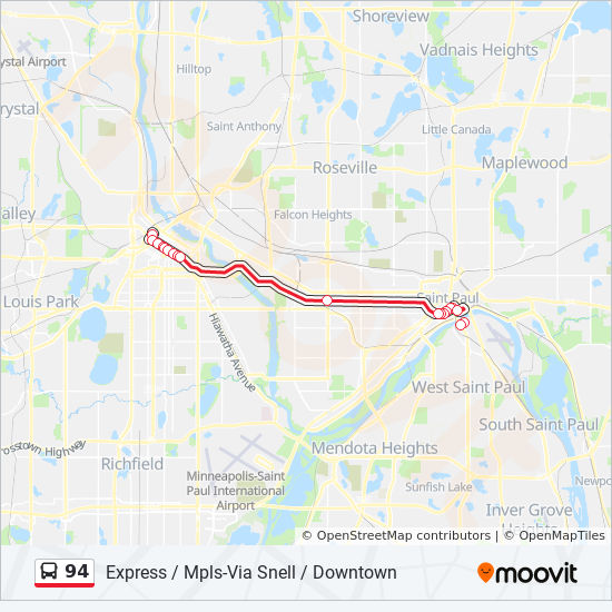 94 Route: Time Schedules, Stops & Maps - Westbound 94 Express ... on