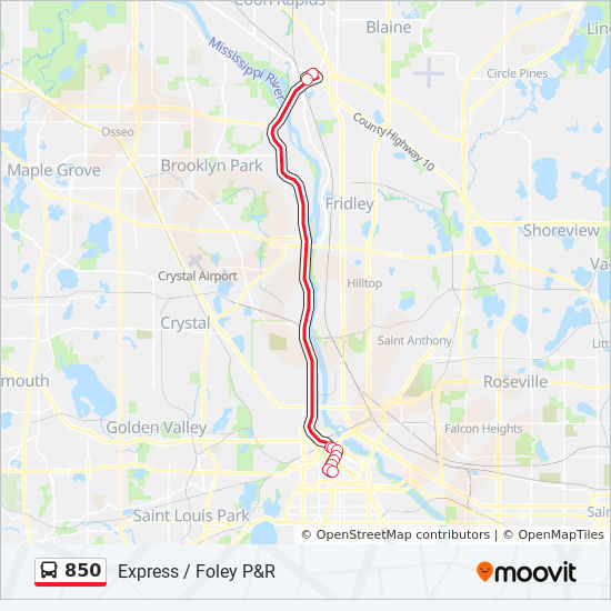 850 Route Time Schedules Stops Amp Maps Southbound 850