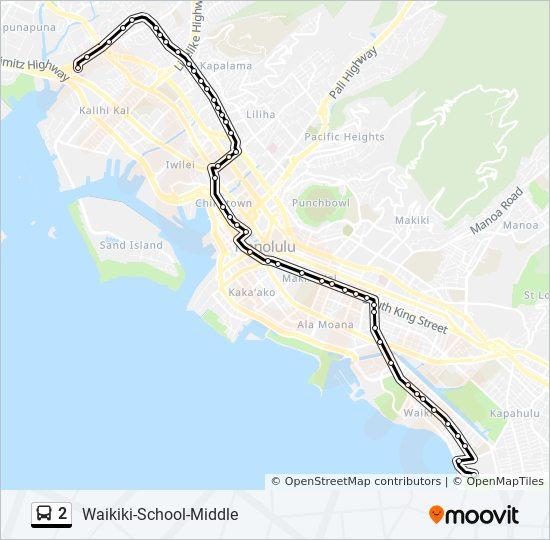 2 Bus Line Map