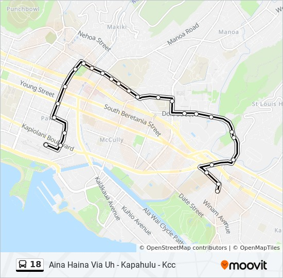 18 Route: Time Schedules, Stops & Maps - Uh Manoa - Dole Street on uh campus map pdf, ccsu campus map, csus campus map, sf state campus map, uh campus center map, uwrf campus map, uw-madison campus map, university of washington campus map, uh building map, uh main campus map, iun campus map, uw bothell campus map, uh west oahu campus map, uh maui college campus map, uh hilo campus map, wsu vancouver campus map, uncg campus map, mctc campus map, boise state university campus map, honolulu community college campus map,
