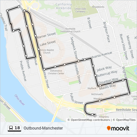 Manchester Ohio Map.18 Route Time Schedules Stops Maps Inbound Manchester To