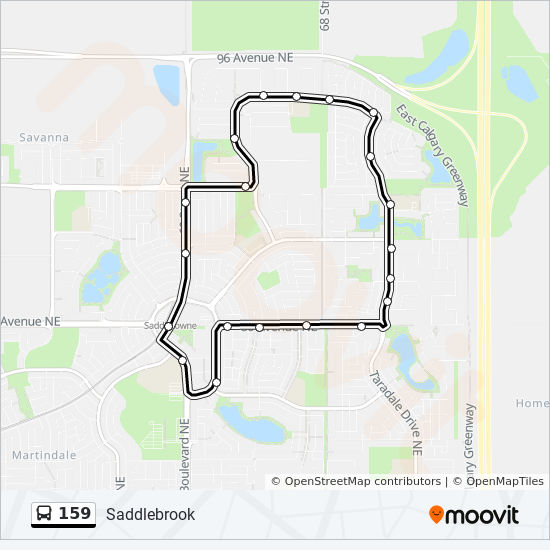 159 Route: Time Schedules, Stops & Maps - Saddlebrook