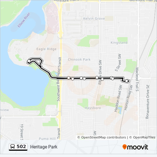 502 Route Time Schedules Stops Amp Maps Heritage Park