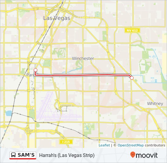 Map Of The Vegas Strip S on
