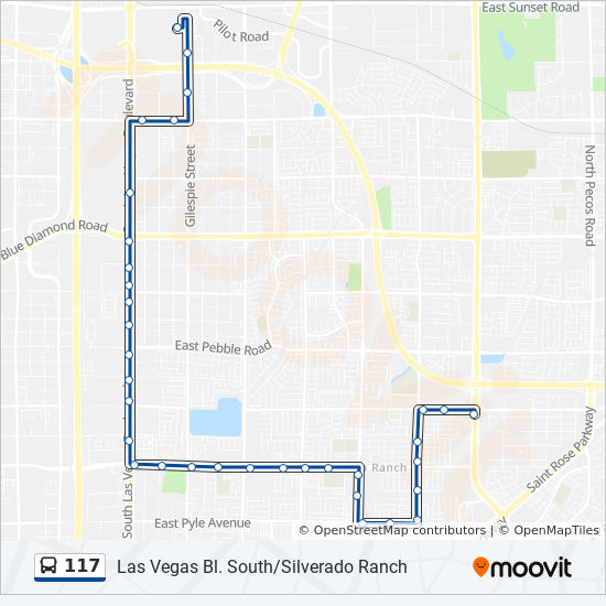 117 Route: Time Schedules, Stops & Maps - 117 S. Las Vegas ...