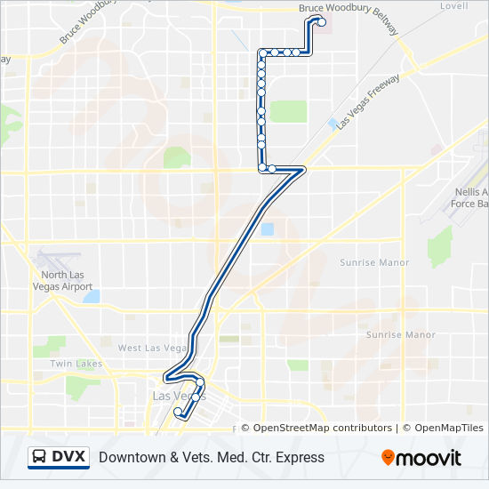 DVX Route: Time Schedules, Stops & Maps - Downtown & Veteran Medical on