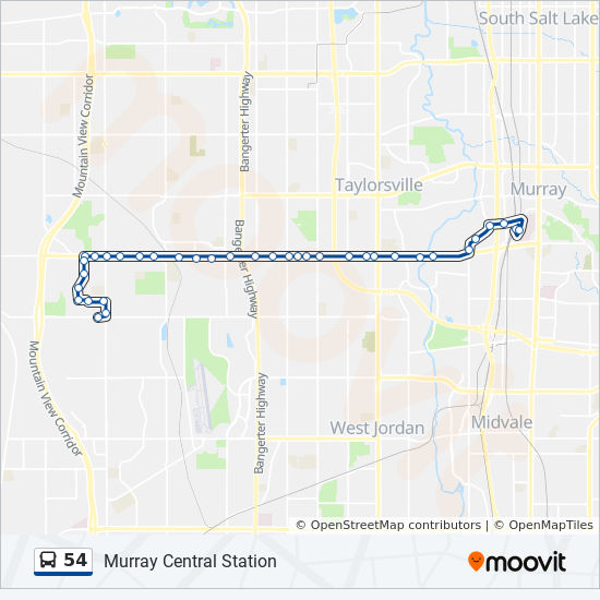 54 Route: Time Schedules, Stops & Maps - 5600 West on cincinnati public transportation map, santa clara public transportation map, boston public transportation map, florida public transportation map,