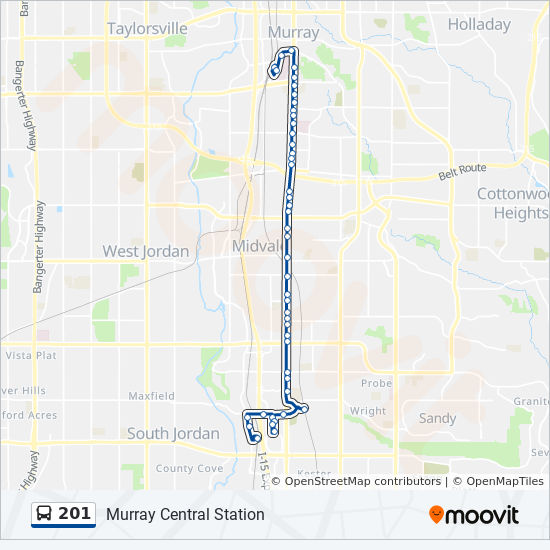 201 Route Time Schedules Stops Maps Murray Central Station