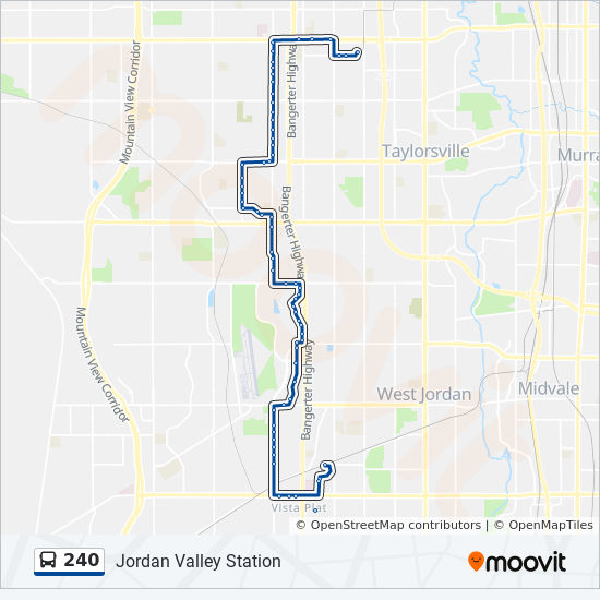 240 Route Time Schedules Stops Maps West Valley Central Station