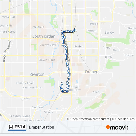 F514 Route Time Schedules Stops Maps Draper Station