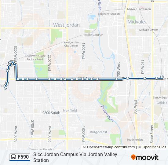 F590 Route Time Schedules Stops Maps Slcc Jordan Campus Via
