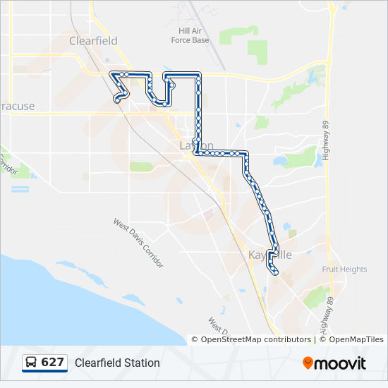 627 Route: Time Schedules, Stops & Maps