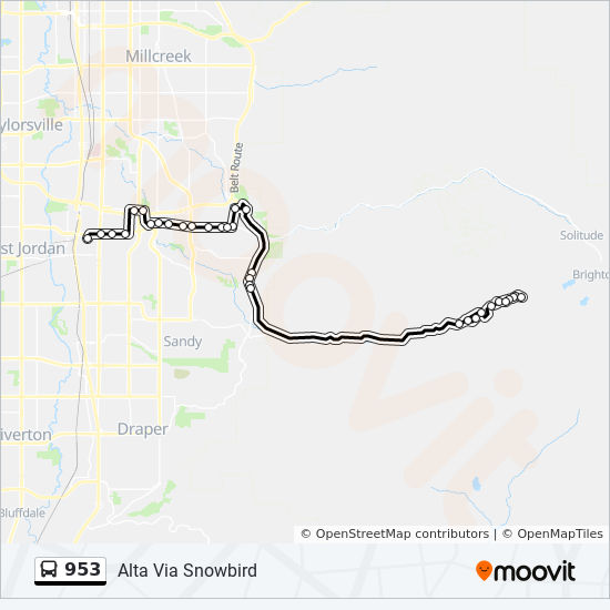 953 Route Time Schedules Stops Maps Midvale Fort Union Station