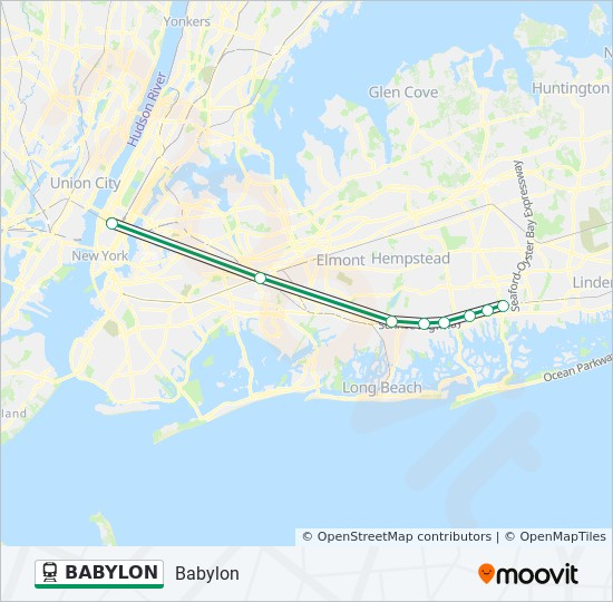 BABYLON Route: Time Schedules, Stops & Maps