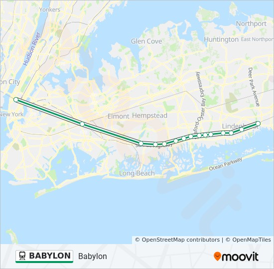 BABYLON train Line Map