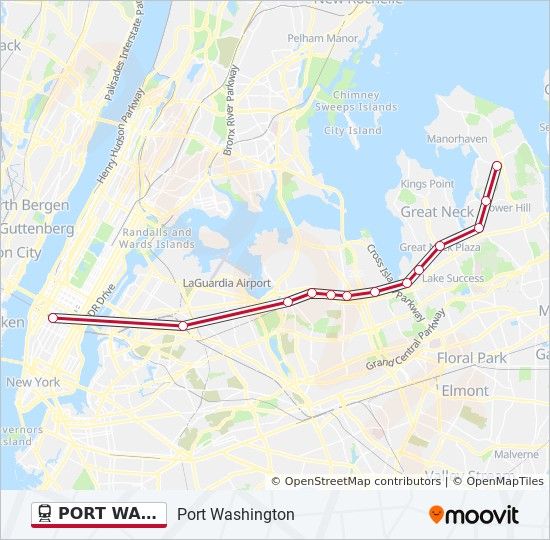 Murray Hill Nyc Map.Port Washington Route Time Schedules Stops Maps Westbound
