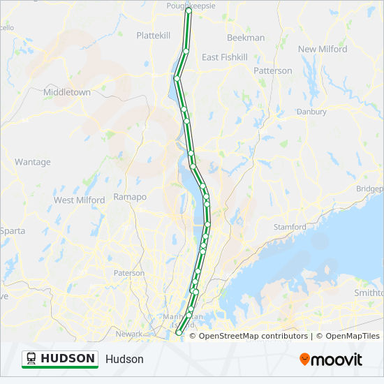 Metro North Hudson Line Map HUDSON Route: Time Schedules, Stops & Maps   Northbound