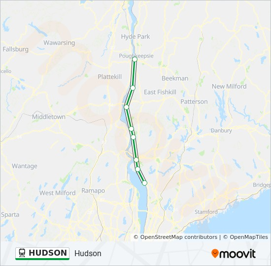 Metro North Hudson Line Map HUDSON Route: Time Schedules, Stops & Maps   Southbound