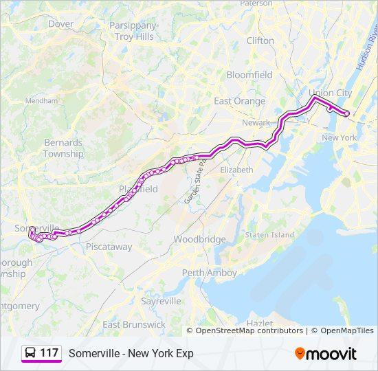 117 bus Line Map