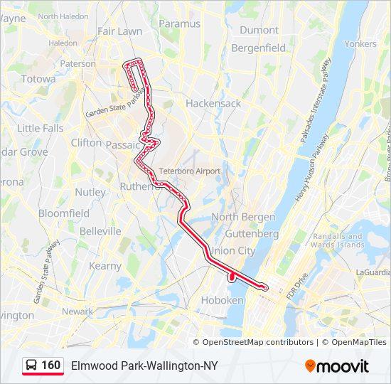 160 bus Line Map