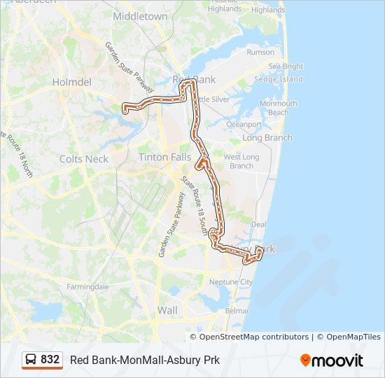 832 bus Line Map