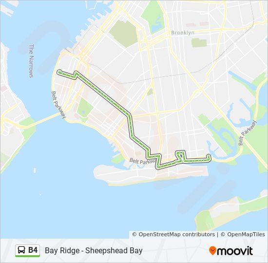 B4 Route: Time Schedules, Stops & Maps - Bay Ridge Narrows Av