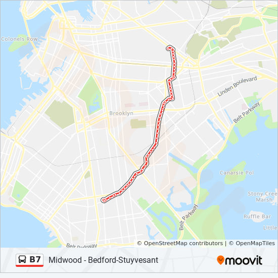 Bed Stuy Map B7 Route: Time Schedules, Stops & Maps   Bed Stuy Bway Halsey Via