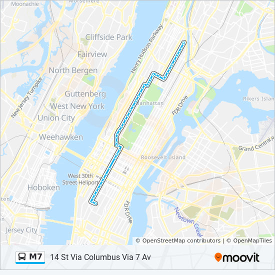 M7 Route Time Schedules Stops Amp Maps Harlem 147 St Via