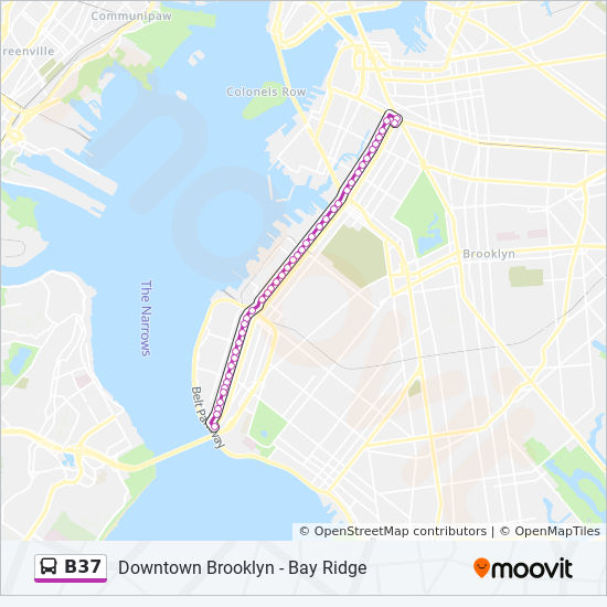 B37 Route Time Schedules Stops Amp Maps