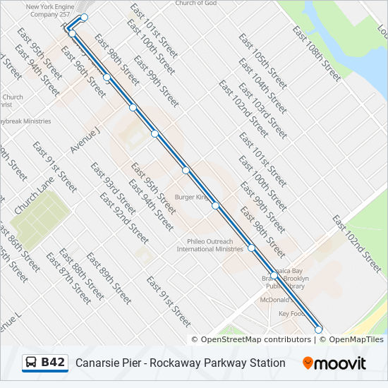 B42 Route Time Schedules Stops Amp Maps Canarsie Pier