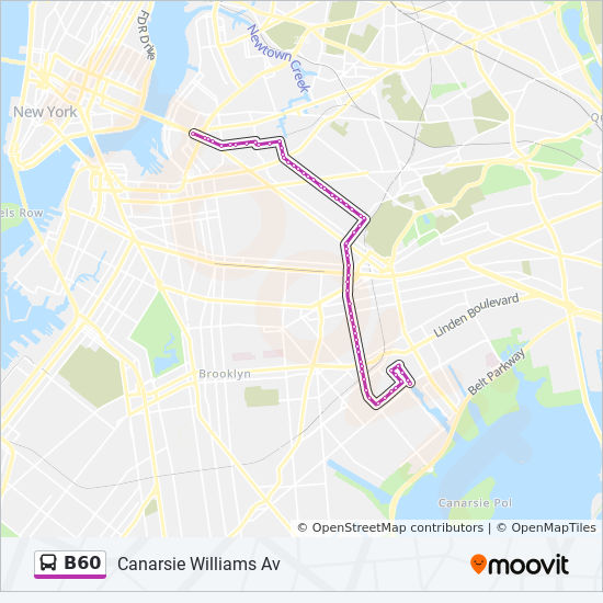 B60 Route Time Schedules Stops Amp Maps Williamsburg