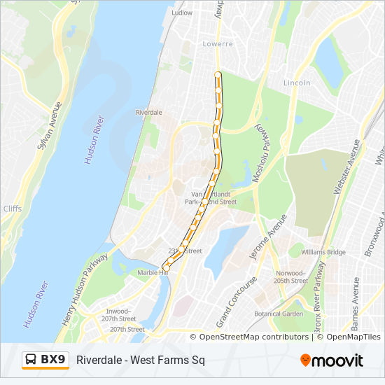 BX9 Route: Time Schedules, Stops & Maps