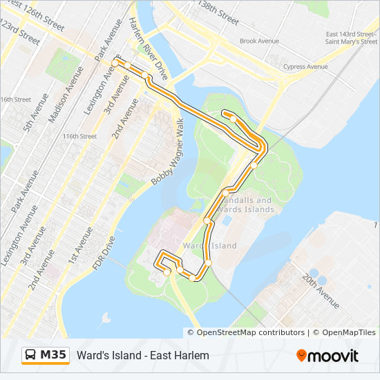 M35 Route: Time Schedules, Stops & Maps - Harlem Lex Av-125 St on tuscaloosa marine shale field map, grand park field map, central park map, new york city area map, flanders field map, randall's island new york map, city island map, randall island ny map, bear creek park field map,
