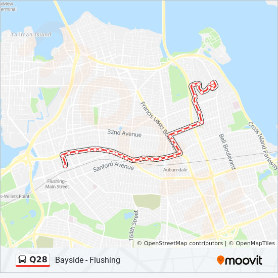 Q28 Route Time Schedules Stops Amp Maps
