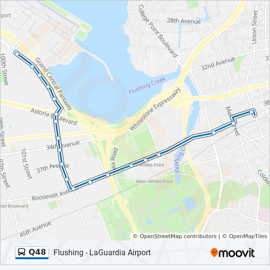 Q48 Route Time Schedules Stops Amp Maps