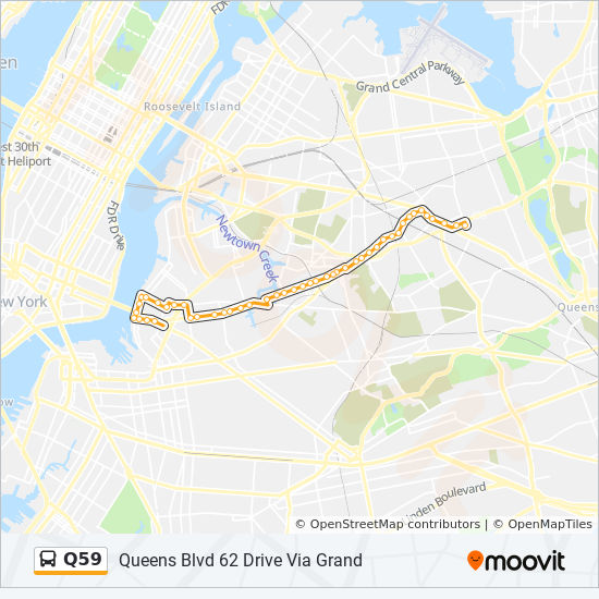 Q59 Route Time Schedules Stops Amp Maps Queens Blvd 63