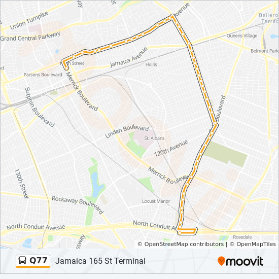 Q77 Route Time Schedules Stops Amp Maps Jamaica 165 St Term