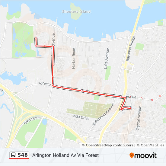 S48 Route Time Schedules Stops Amp Maps St George Ferry