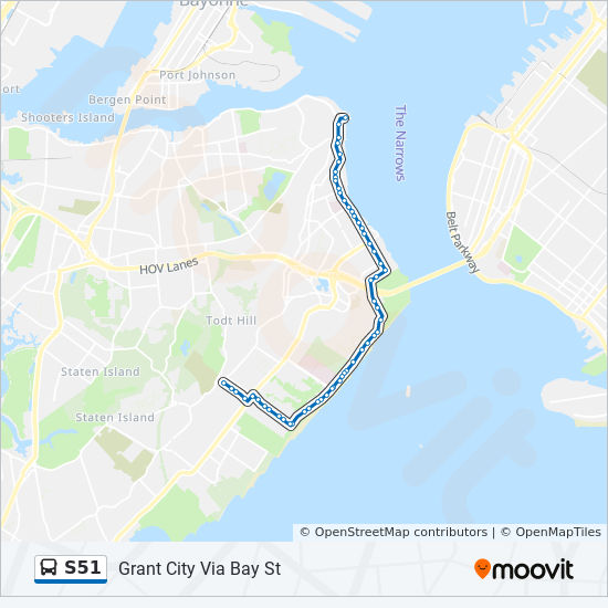 S51 Route Time Schedules Stops Amp Maps St George Ferry