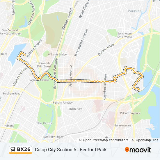 Bx26 Route Time Schedules Stops Amp Maps Co Op City