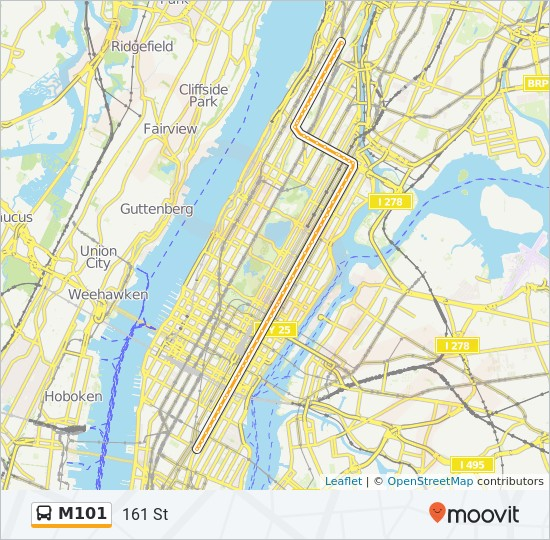 New York City Subway Map June 1993.M101 Route Time Schedules Stops Maps 161 St