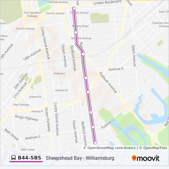 B44 Sbs Route Time Schedules Stops Amp Maps