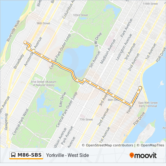 M86 Sbs Route Time Schedules Stops Amp Maps