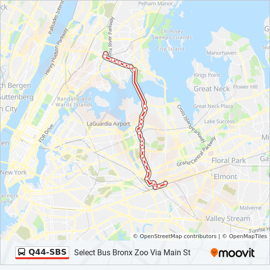 Map Of New York Jamaica.Q44 Sbs Route Time Schedules Stops Maps Jamaica Via Main St
