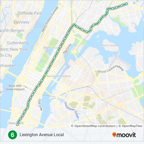 6 Route: Time Schedules, Stops & Maps - Downtown on new york f train map, new york city train map, new york train system map, ny city train map, subway e train map, l train subway map, mta r train map, l train line map, bronx 5 train map, mta e train map, n r train map, mta f train map,