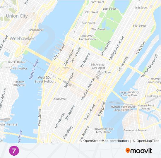 Linie 7 Fahrpläne Haltestelle Karten Queens