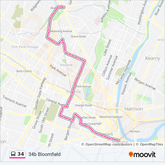 34 Route: Time Schedules, Stops & Maps - 34m Montclair on