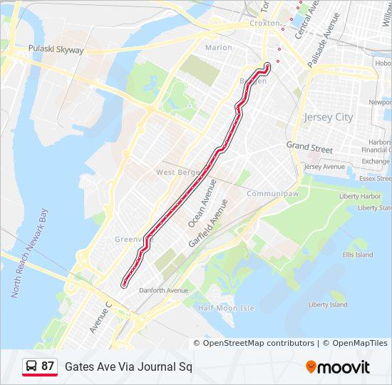 87 bus Line Map