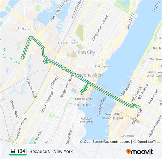 124 bus Line Map