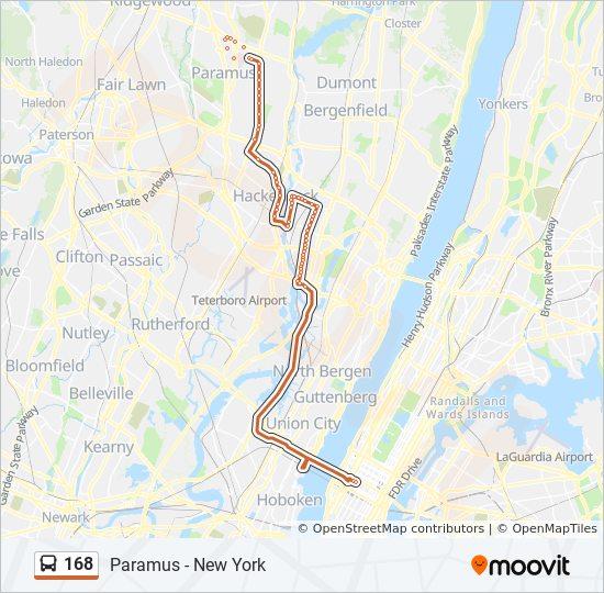 168 bus Line Map